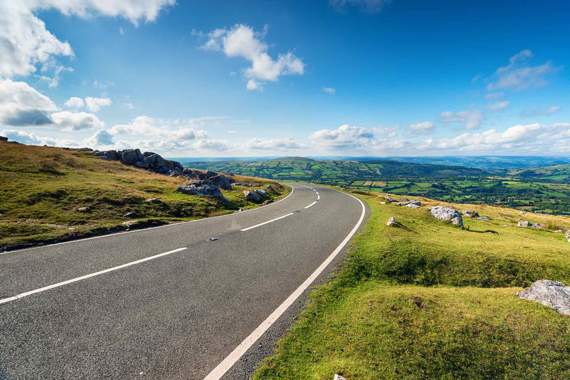 black mountain road in Wales